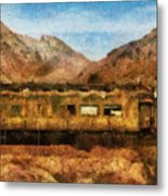 City - Arizona - Desert Train Metal Print