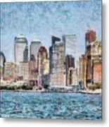 City - Ny - Manhattan Metal Print