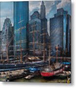 City - Ny - The New City Metal Print