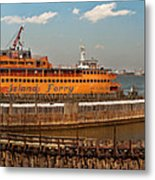 City - Ny - The Staten Island Ferry - Panorama Metal Print