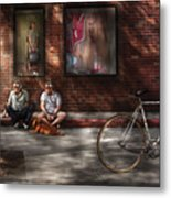 City - Ny - Two Guys And A Dog Metal Print