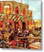 City - Vegas - Cesar's - Lunch In Italy Metal Print