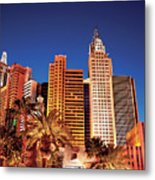 City - Vegas - Ny - The New York Hotel Metal Print