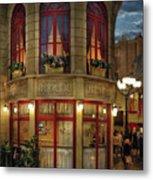 City - Vegas - Paris - Le Cafe Metal Print