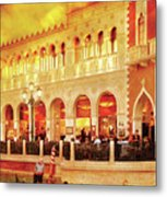 City - Vegas - Venetian - Life At The Palazzo Metal Print