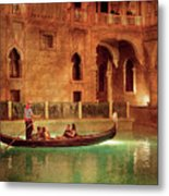 City - Vegas - Venetian - The Gondola's Of Venice Metal Print