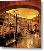 City - Vegas - Venetian - The Streets Of Venice Metal Print