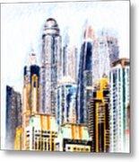 City Abstract Metal Print