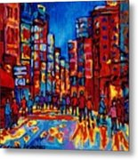 City After The Rain Metal Print