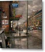 City - Amsterdam Ny -  Call 666 For Taxi 1941 Metal Print