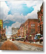 City - Arkansas - Main St 1925 Metal Print
