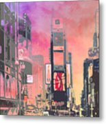 City-art Ny Times Square Metal Print