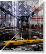 City-art Nyc Composing Metal Print