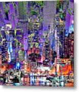 City Art Syncopation Cityscape Metal Print