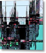 City As Computer Chips  Metal Print
