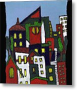 City At Christmas Metal Print