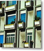 City Balconies Metal Print