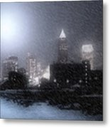 City Bathed In Winter Metal Print