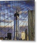 City Between The Bridge Metal Print