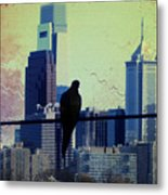 City Bird Metal Print