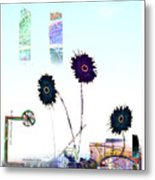 City Blooms Metal Print