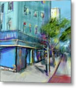 City Blue Metal Print