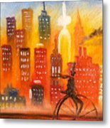 City Cycle In The Warm Evening Metal Print