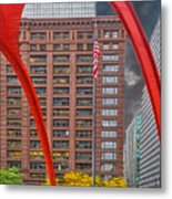 City Flamingo Metal Print