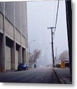City Fog Metal Print