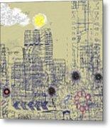 City Garden 4 Metal Print