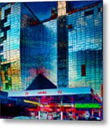 City Gas Station Metal Print