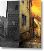 City - Germany - Alley - The Farmers Wife 1904 - Side By Side Metal Print