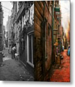 City - Germany - Alley - The Other Half 1904 - Side By Side Metal Print