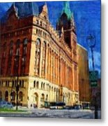 City Hall And Lamp Post Metal Print