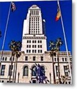 City Hall La Metal Print