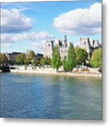 Seine River Embankment Metal Print