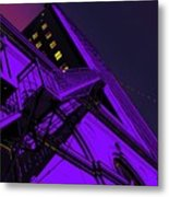 City Hall Stairs, In Indigo Metal Print