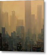 City Haze Metal Print