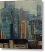 City In The Cityscape Metal Print