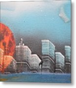 City In The Day. Metal Print
