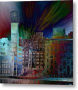 City In Transmission Metal Print