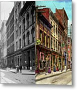 City - Knoxville Tn - Gay Street 1903 - Side By Side Metal Print