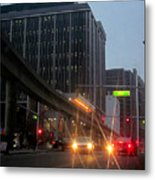 City Life Swarms Metal Print