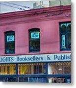 City Lights Booksellers Metal Print