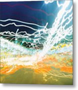 City Lights Chaos Metal Print
