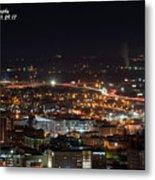 City Lights Over Bham, Al Metal Print