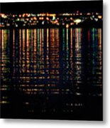 City Lights Upon The Water 1 Metal Print