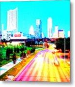 City Of Austin From The Walk Bridge Metal Print
