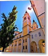 City Of Ljubljana Church And Square View Metal Print