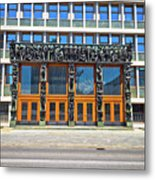 City Of Ljubljana Parliament Building View Metal Print